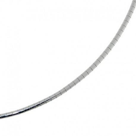 Chaine cable argent40 cm