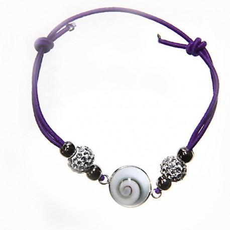 Bracelet Elastique Oeil de sainte lucie et Strass