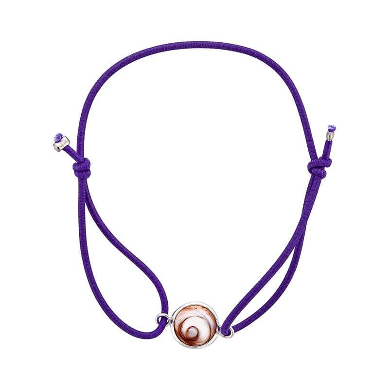 Bracelet violet oeil de sainte lucie méditerranéen