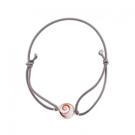 Bracelet gris oeil de sainte lucie méditerranéen