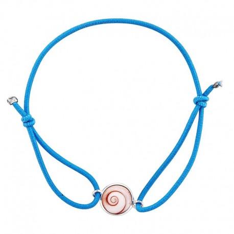 Bracelet bleu oeil de sainte lucie méditerranéen