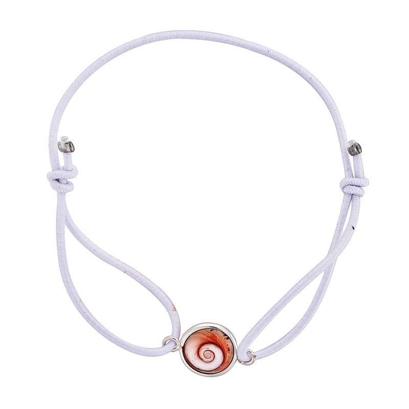 Bracelet blanc oeil de sainte lucie méditerranéen