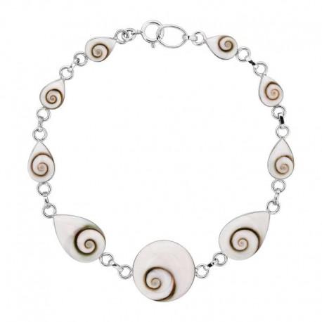 Bracelet argent neuf yeux de sainte Lucie
