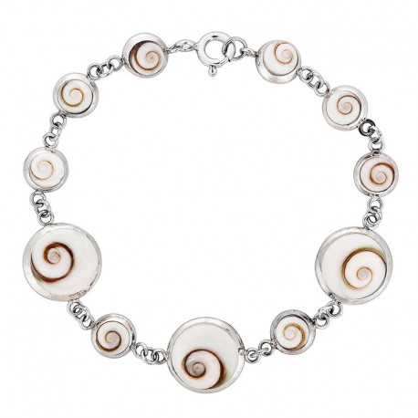 Bracelet chaine argent et oeil de sainte Lucie