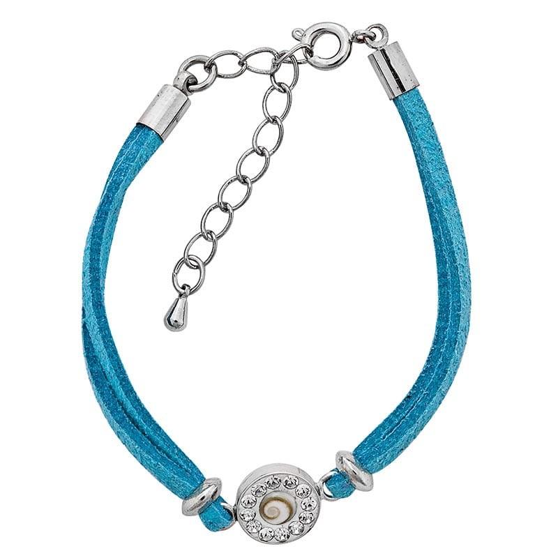 Bracelet turquoise oeil de sainte lucie et strass