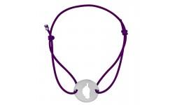 Bracelet violet avec Corse