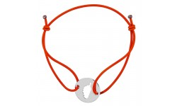 Bracelet orange avec Corse