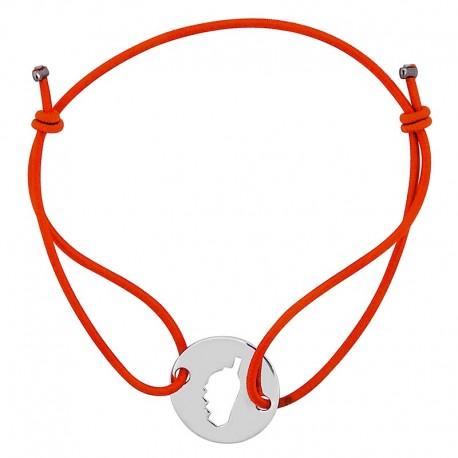 Bracelet orange avec Corse