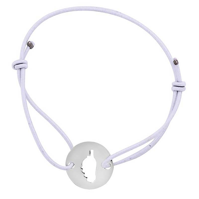Bracelet blanc avec Corse