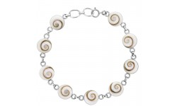 Bracelet argent neuf yeux de sainte Lucie ronds