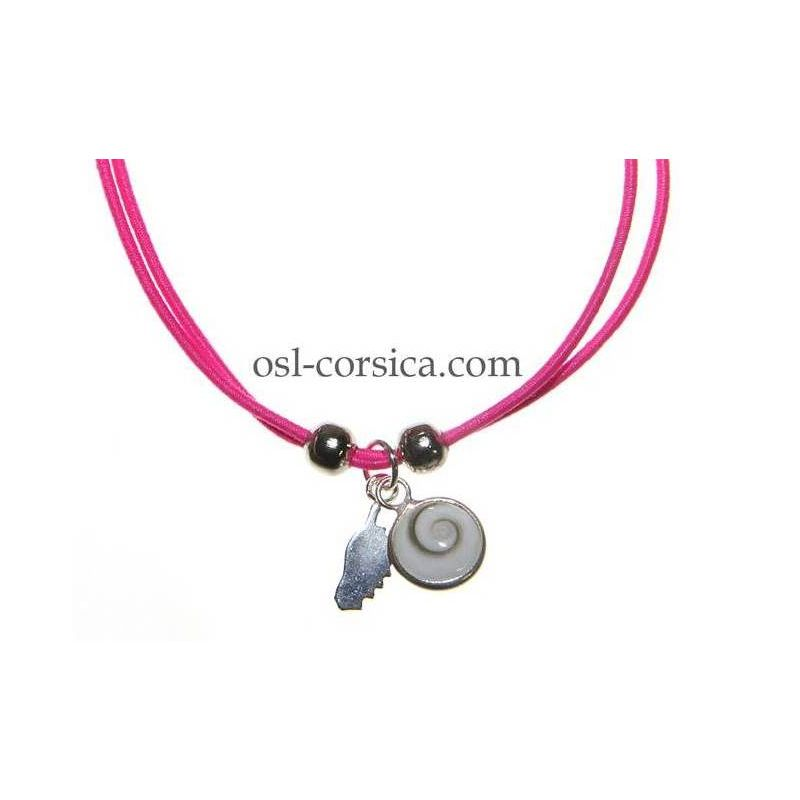 Bracelet Corse et oeil de sainte lucie rose