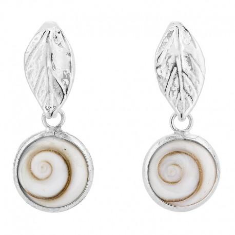 boucles d'oreilles argent et oeil de sainte lucie SEC249
