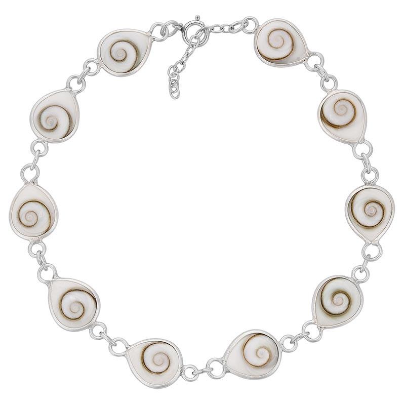 Bracelet argent oeil de sainte Lucie