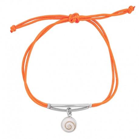 Bracelet cordon soie réglable oeil de sainte lucie