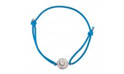 Bracelet bleu Oeil de sainte Lucie et Strass