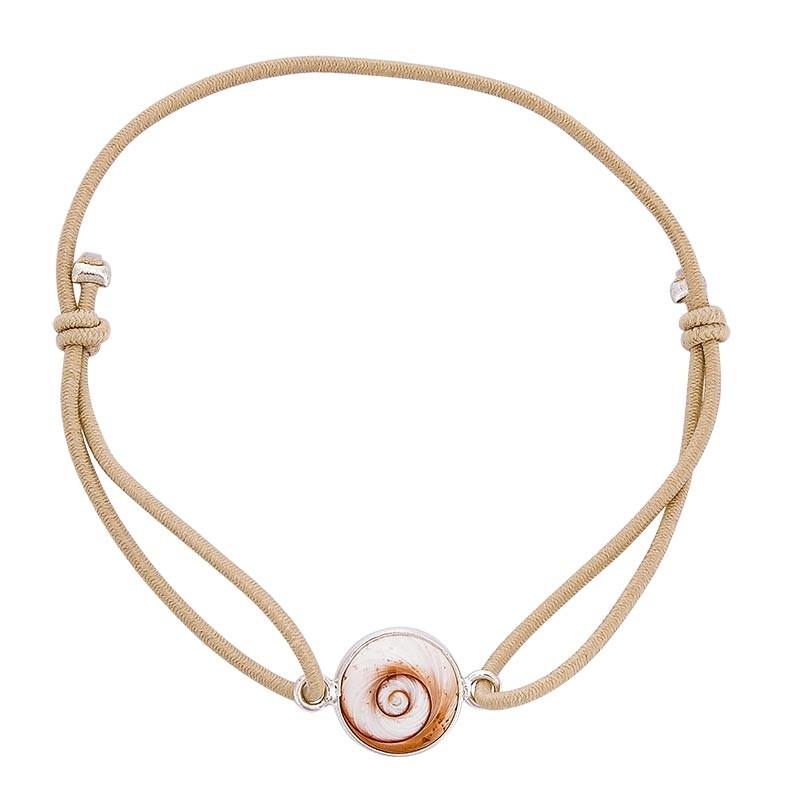 Bracelet chair oeil de sainte lucie méditerranéen