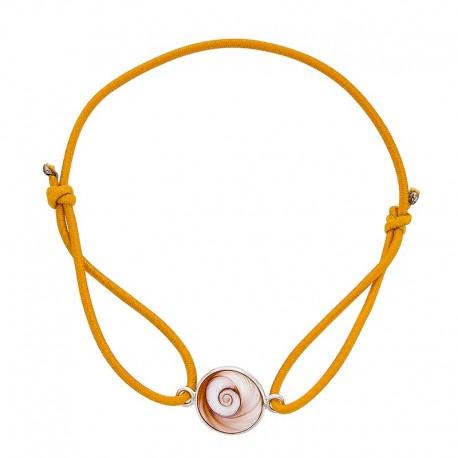 Bracelet orange oeil de sainte lucie méditerranéen
