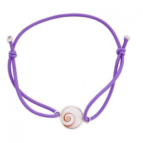 Bracelet lilas oeil de sainte lucie méditerranéen