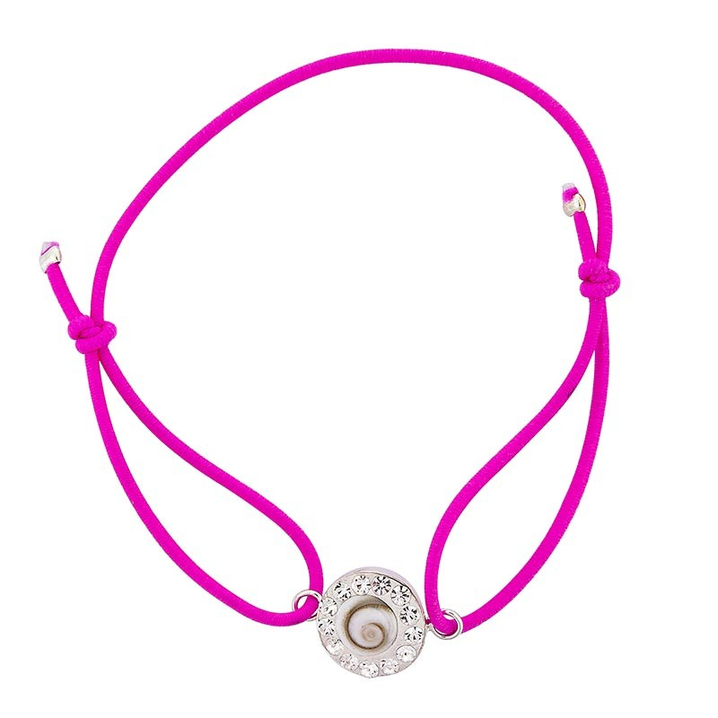 Bracelet rose Oeil de sainte Lucie et Strass