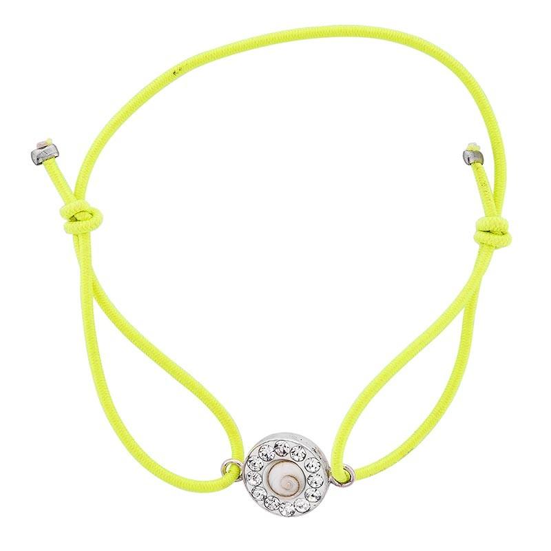 Bracelet vert oeil de sainte lucie et strass