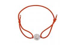 Bracelet orange Oeil de sainte lucie et Strass