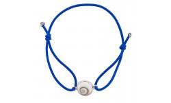 Bracelet Elastique bleu azur oeil de sainte lucie