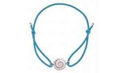Bracelet Elastique bleu pastel oeil de sainte lucie