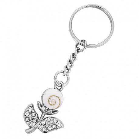 Porte clé oeil de sainte lucie fleur