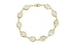 Bracelet plaqué or et oeil de sainte lucie