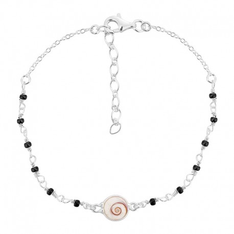Bracelet oeil sainte lucie et perles miyuki