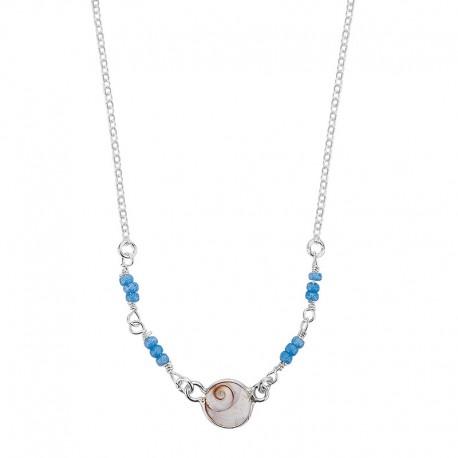 collier oeil de sainte lucie et perles miyuki turquoises