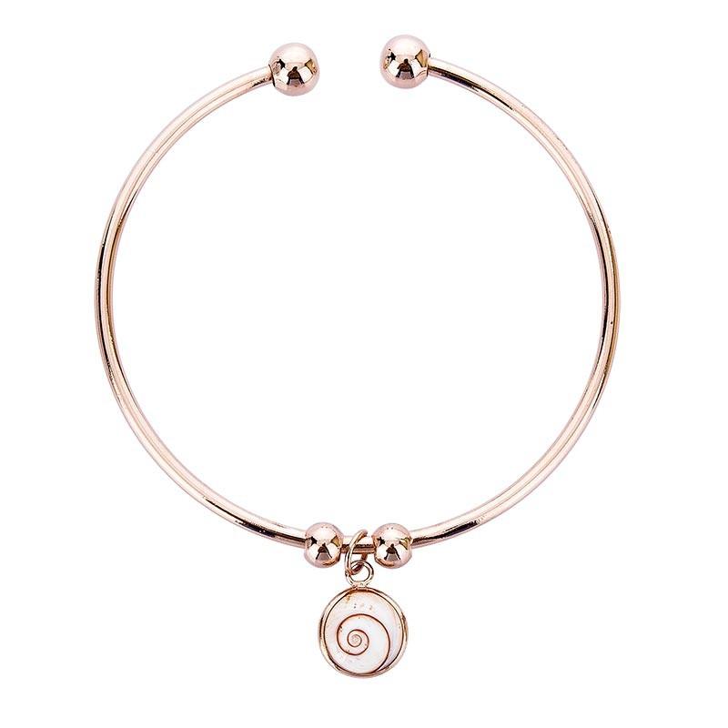Bracelet rigide plaqué OR avec oeil de sainte lucie