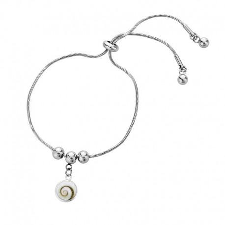 Bracelet acier et oeil de sainte lucie