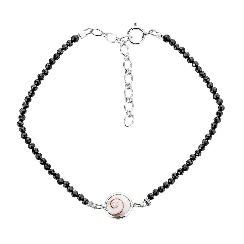 Bracelet souple onyx et oeil de sainte lucie