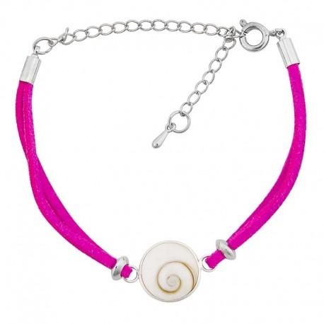 Bracelet oeil de sainte lucie alcantara rose