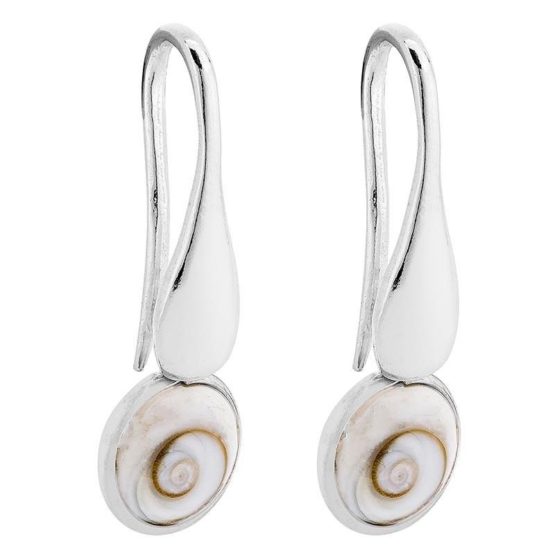 Boucles d'oreilles Argent oeil de sainte lucie rond