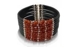 Bracelet manchette Corail...