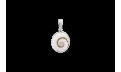 pendentif ovale avec oeil de sainte Lucie