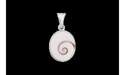 Pendentif ovale avec oeil de sainte Lucie cerclé