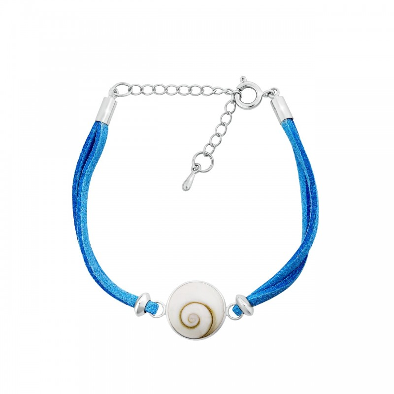 Bracelet oeil de sainte lucie alcantara turquoise